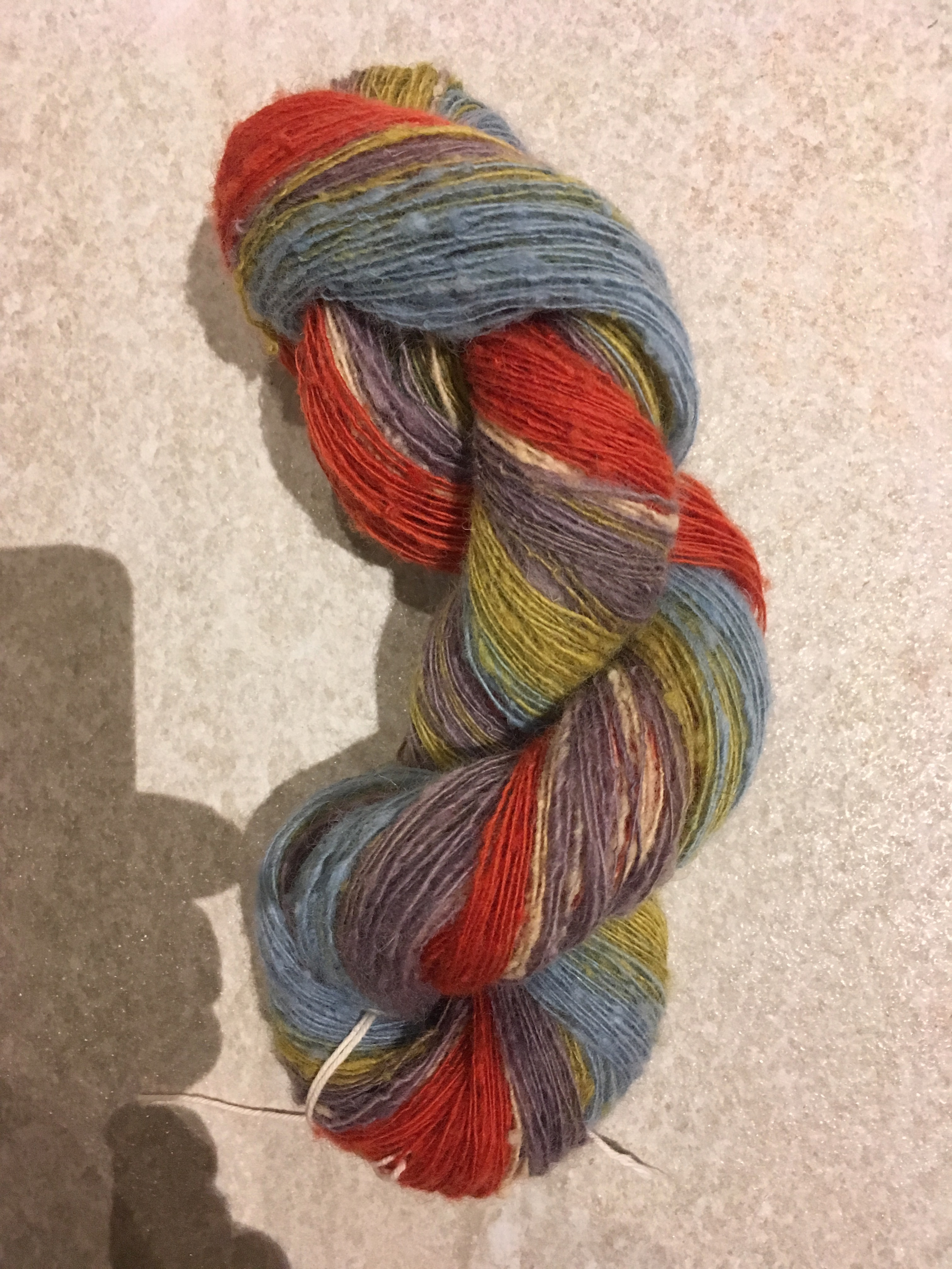 Colour-gradient yarn